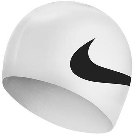 Шапочка для плавания Nike Os Big Swoosh NESS8163-100 Белая, фото 2