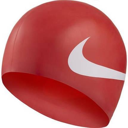 Шапочка для плавания Nike Os Big Swoosh NESS8163-614 Красная, фото 2