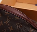 Сумка клатч Луї Вітон канва Monogram, шкіряна репліка, фото 4