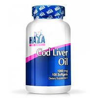 Рыбий жир, Омега HAYA LABS Cod Liver Oil 1000mg. 100caps, фото 1