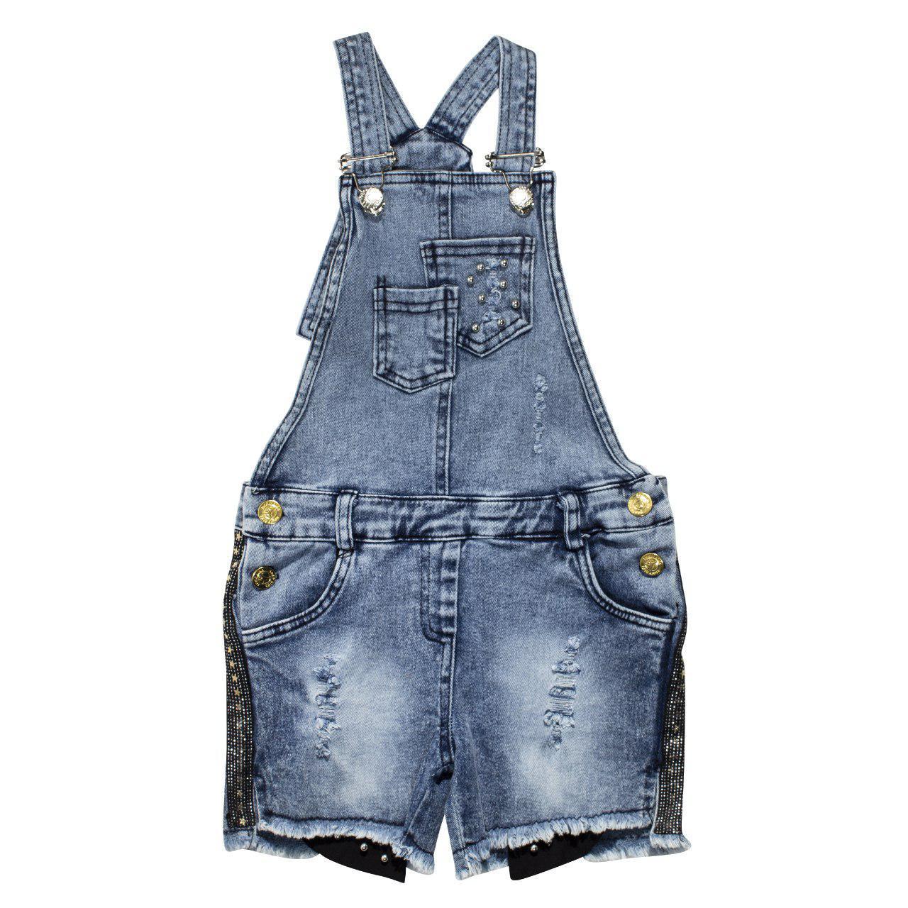 Комбінезон джинсовий для дівчаток
