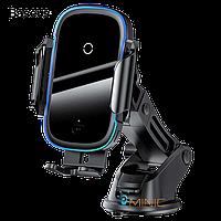 Автомобильный держатель с беспроводной зарядкой Baseus WXHW03-01 Light Electric Holder Wireless Charger 15W