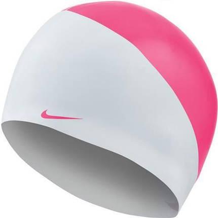 Шапочка для плавания Nike Os Slogan NESS9164-678 Бело-розовая, фото 2