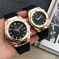 Мужские золотые часы Hublot Geneve Хублот, чоловічий золотий годинник