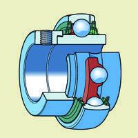 Серия SAхxх - шариковые однорядные сферические подшипники с закрепительной и эксцентриковой втулкой
