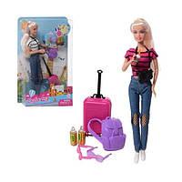Кукла Defa Lucy аксессуары туриста 2 вида 8389