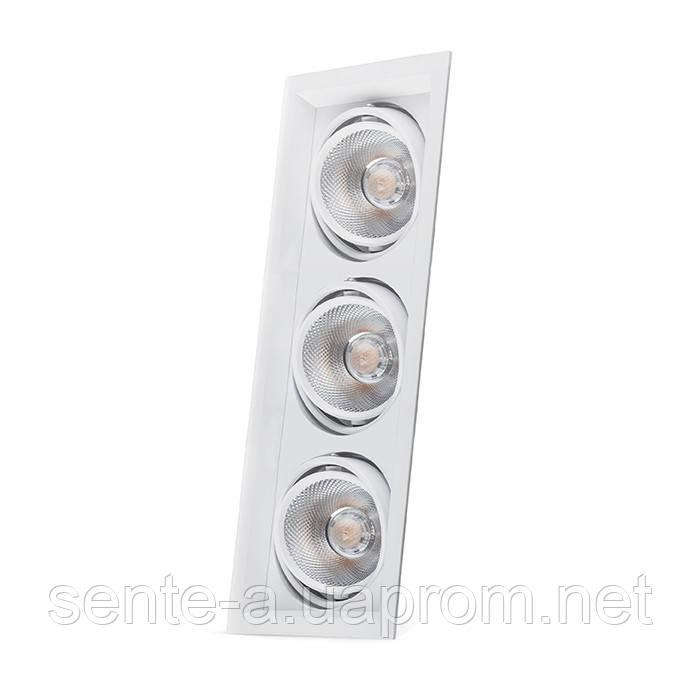 Карданный светильник Feron AL203 3xCOB 20W белый