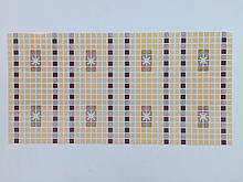 Панели ПВХ Регул Мозаика Орнамент бордовый