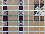 Панели ПВХ Регул Мозаика Орнамент бордовый, фото 4