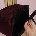 Дорожная сумка спортивная женская Nike 40 л бордовая, фото 9