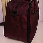 Дорожная сумка спортивная женская Nike 40 л бордовая, фото 4