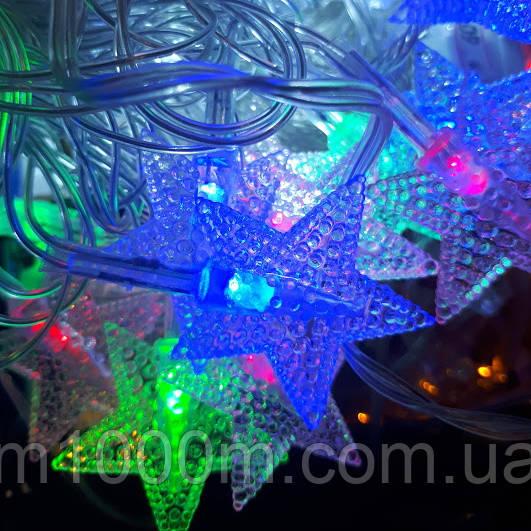 Гирлянда Led 28 Фигурки, Звездочки, мультицветная