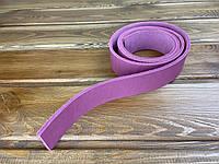 Полоса ременная из натуральной кожи цвет розовый 1300*38*4 мм
