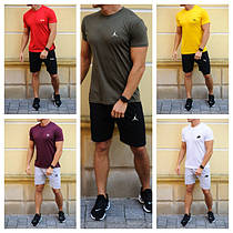 Летние комплекты для мужчин - шорты и футболка с брендами