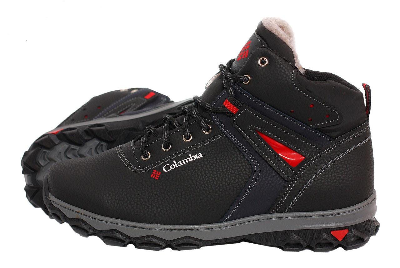 Мужские зимние ботинки Размер 45 в стиле Columbia Прошитые, с мехом