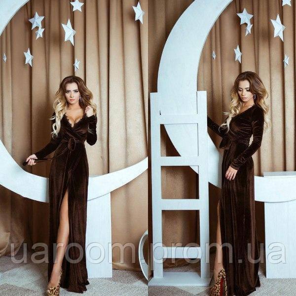 Женское платье из бархата №413