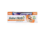Зубная паста Dabur Гвоздика, Dabur Herb l Clove Natural Toothpaste 150 гр + щётка