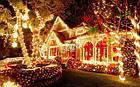 """[ОПТ]Уличная светодиодная новогодняя гирлянда """"Бахрома/Штора"""", 140LED, 3м*0.8м, IP-44(тёплая и холодная белая), фото 6"""
