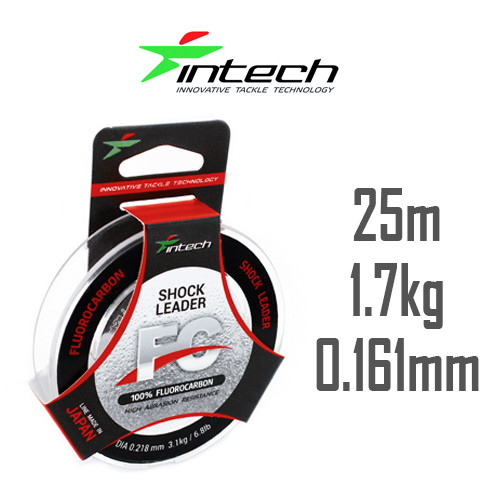 Флюорокарбон Intech FC Shock Leader 25м 0.161мм 1.7кг