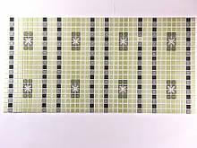 Панели ПВХ Регул мозаика Орнамент зеленый