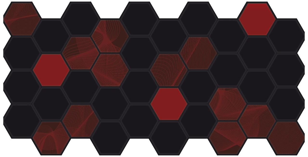 Панели ПВХ Grace Граненый шестигранник Электра 973*492мм