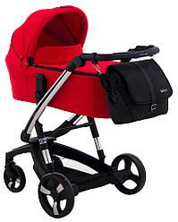 Детская коляска универсальная 2 в 1 Ibebe i-stop Chrome red (Польша)