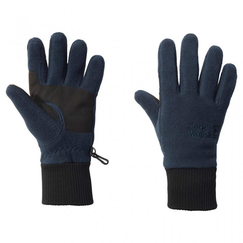 Флисовые синие перчатки Jack Wolfskin Vertigo Glove