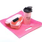 Набор ланч бокс и бутылка для детей в школу - розовый, фото 2