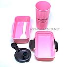 Набор ланч бокс и бутылка для детей в школу - розовый, фото 3