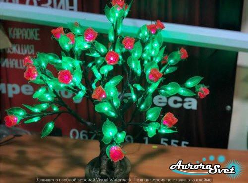 """Світлодіодне дерево """"Бонсай Троянда"""" 260 світлодіодів. Світлодіодна гірлянда. Гірлянда LED. Виробництво Франція."""