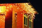 """[ОПТ]Вулична новорічна світлодіодна гірлянда Бахрома/Штора"""", 210LED, 5м*0.8 м, IP-44(теплий та холодний білий), фото 5"""