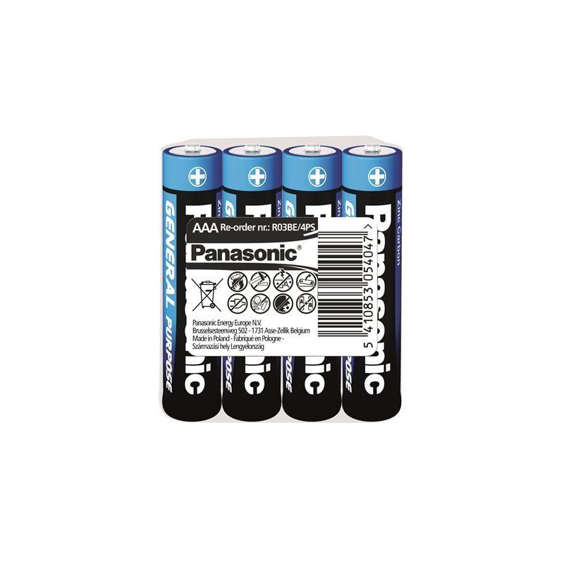Батарейка Panasonic General Purpose R3 AAA/LR03 Tray 4 шт
