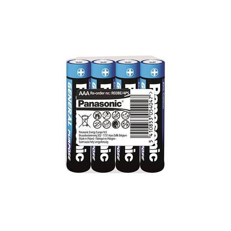 Батарейка Panasonic General Purpose R3 AAA/LR03 Tray 4 шт, фото 2