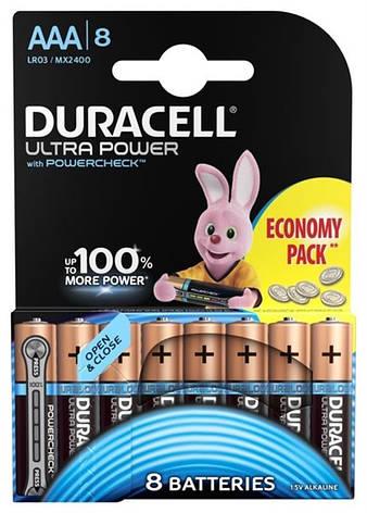 Батарейка Duracell Ultra Power AAA/LR03 BL 8шт, фото 2