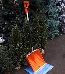 Лопата для снега 41х41 см Польша ➜ Пластиковая лопата снегоуборочная ➜ Лопата снігова