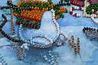 Набор для вышивки бисером Мини Снежный друг (15 х 15 см) Абрис Арт AM-212, фото 3