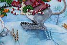 Набор для вышивки бисером Мини Снежный друг (15 х 15 см) Абрис Арт AM-212, фото 5
