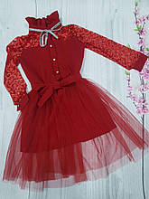 Платье для девочки нарядное  р.122-134 опт