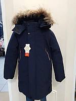 Дитяча тепла зимова куртка для хлопчика 140