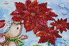 Набор для вышивки бисером Мини Зимнее чудо (15 х 15 см) Абрис Арт AM-215, фото 5