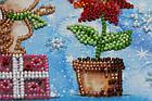 Набор для вышивки бисером Мини Зимнее чудо (15 х 15 см) Абрис Арт AM-215, фото 6