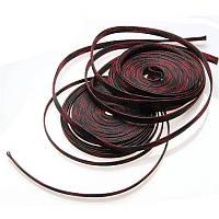 Кабельная оплетка змеиная кожаJDDTECH полиэфирная 6 мм черный с красным 1 м