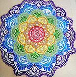 Пляжный коврик Мандала фиолетовый. 150см., фото 2