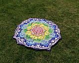 Пляжный коврик Мандала фиолетовый. 150см., фото 3