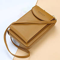 Сумка для телефона Baellerry forever через плечо Коричневый, женский клатч-кошелек, фото 1