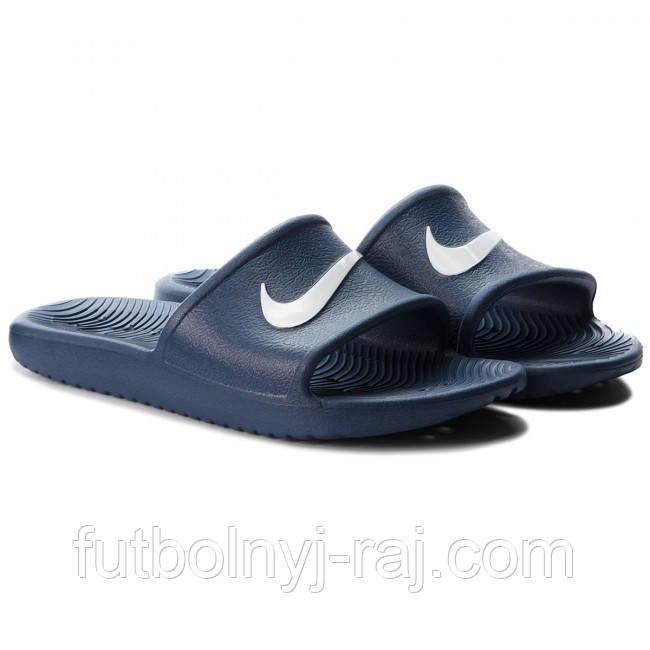 Сланцы Nike. Цвет: синий. Материал: полимер.