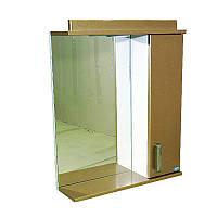 """Зеркало для ванной комнаты с подсветкой и шкафчиком """"Колибри"""" 55zl"""