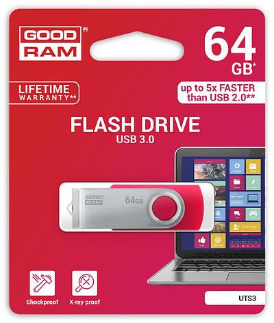 Флеш-накопичувач USB3.0 64GB GOODRAM Twister Black (UTS3-0640K0R11), фото 2