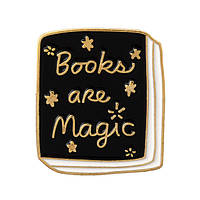 """Книга Books are magic"" значок (пин) металлический"