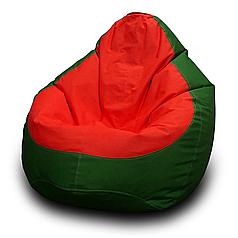 Кресло мешок груша Оксфорд Красный/Зеленый